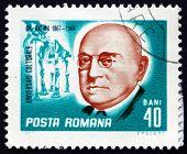 Postage Stamp Romania 1967 Grigore Antipa, Darwinist Biologist