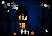 Hallowed Eve House Illustration