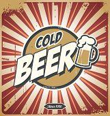 Cartaz da cerveja vintage