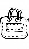 Isolated vector sketch of Shopping Handbag