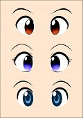 anime eye vector pack
