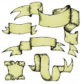 Set Of Parchment Ribbons