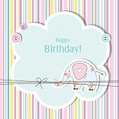 Birthday card with copy space Nice greeting card for birthday invitation, baby shower, scrapbook pro