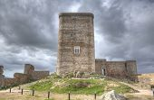 picture of corbel  - The stronghold of Feria is one of the most remarkable castle in Extremadura  - JPG