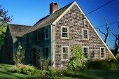 picture of cape-cod  - Cape Cod Salt Box House  - JPG