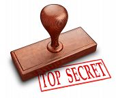 picture of top-secret  - Top secret stamp 3d illustration on white background - JPG