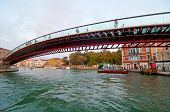 image of calatrava  - Venice Calatrava bridge della costituzione newest construction in town - JPG