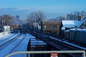 Winter Train City Snow Commute poster