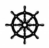 picture of ship steering wheel  - ship steering wheel - JPG