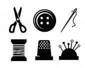 Vector sewing icons