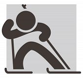 Winter Sport Icon - Biathlon