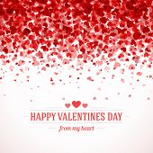 stock photo of glitter sparkle  - Happy Valentine - JPG