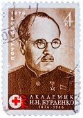 Stamp Printed By Soviet Union (ussr), Shows Portrait Of Nikolai Burdenko - Russian Neurologist, Head