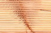 Corrugated Wood texture macro view