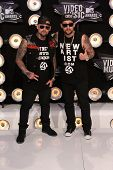Joel Madden and Benji Madden at the 2011 MTV Video Music Awards Arrivals, Nokia Theatre LA Live, Los Angeles, CA 08-28-11
