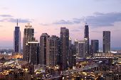 image of emirates  - Dubai Downtown at dusk - JPG