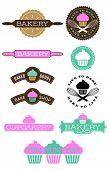 Ten Bakery And Cupcake Badges