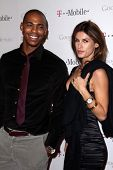 Mehcad Brooks and Elisabetta Canalis at Google And T-Mobile Celebrate The Launch Of Google Music, Mr. Brainwash Studios, Los Angeles, CA 11-16-11