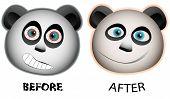 Pandas face expression