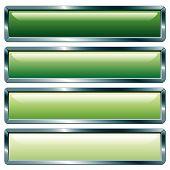 Long Metallic Green