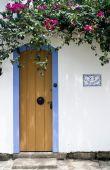 picture of front door  - traditional door in Paraty City Rio de Janeiro Brasil - JPG