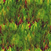 art yellow, green, red avant-garde hand paint background seamles