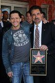 Clifton Collins Jr., Joe Mantegna at Joe Mantegna's induction into the Hollywood Walk Of Fame, Hollywood, CA, 04-29-11