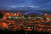 Seattle Stadium At Night