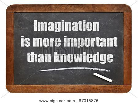 Imagination is more important than