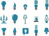 Conjunto de ícones de lâmpadas