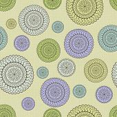 Fabric With Round Ornaments