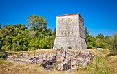 Remains of the ancient Baptistery at Butrint, Albania from the 6th century