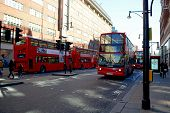 London red buses in Oxford Street London