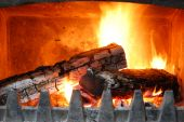 Cozy Home Fireplace poster