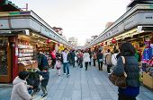Tokyo, Japan - November 21 : Nakamise Shopping Street In Asakusa, Tokyo, Japan