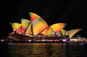 Vivid Sydney, Sydney Opera House With Colourful Geometric Magery