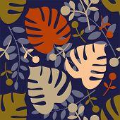 Monstera seamless pattern