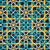 Moroccan ornament. Vector seamless background.