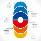 creative colorful circle info-graphics design concept vector