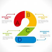 creative number '2' info-graphics design concept vector