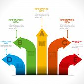 creative arrow info-graphics design concept vector