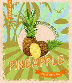 Pineapple retro poster