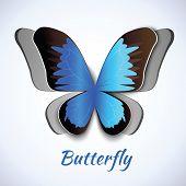 Papercut butterfly card