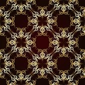 Seamless Pattern On Maroon Background