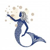 Beautiful blue mermaid