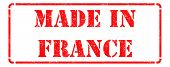 Made in France - Red Rubber Stamp.