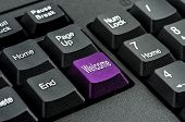 keyboard with the word welcome written on a button