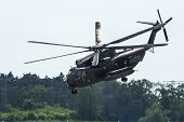 BERLIN, GERMANY - MAY 21, 2014: Sikorsky CH-53 Sea Stallion is the heavy-lift transport helicopter,