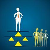 creative concept of balance , men balancing in business concept