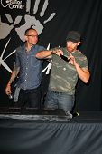 LOS ANGELES - JUN 18:  Chester Bennington, Dave Farrell at the Linkin Park Rockwalk Inducting Ceremo